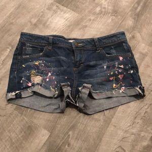 Paint splatter shorts